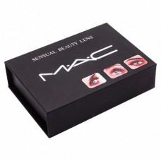 Цветные линзы косметические Mac Honey (медовый)
