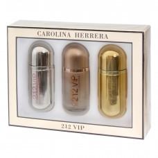 Женский подарочный набор Carolina Herrera 212 VIP  (3 по 30 мл)