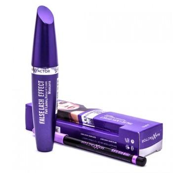 Тушь Max Factor False Lash Effect (фиолетовая туба) + карандаш