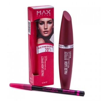 Тушь Max Factor False Lash Effect (розовая) + карандаш