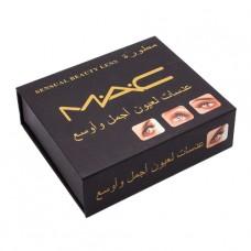 Цветные линзы косметические Mac sensual beauty lens Turquaoise (бирюзовый)