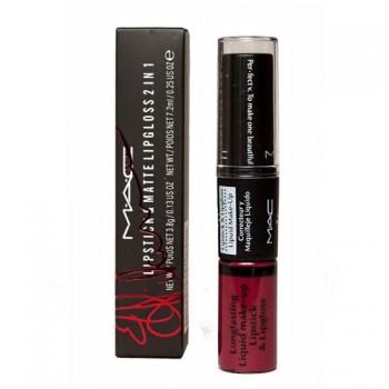 Блеск-помада для губ M.A.C Matte Lipstick & Lipgloss 2 in 1