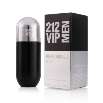 Мужская туалетная вода Carolina Herrera 212 VIP MEN New York Pills 80ml